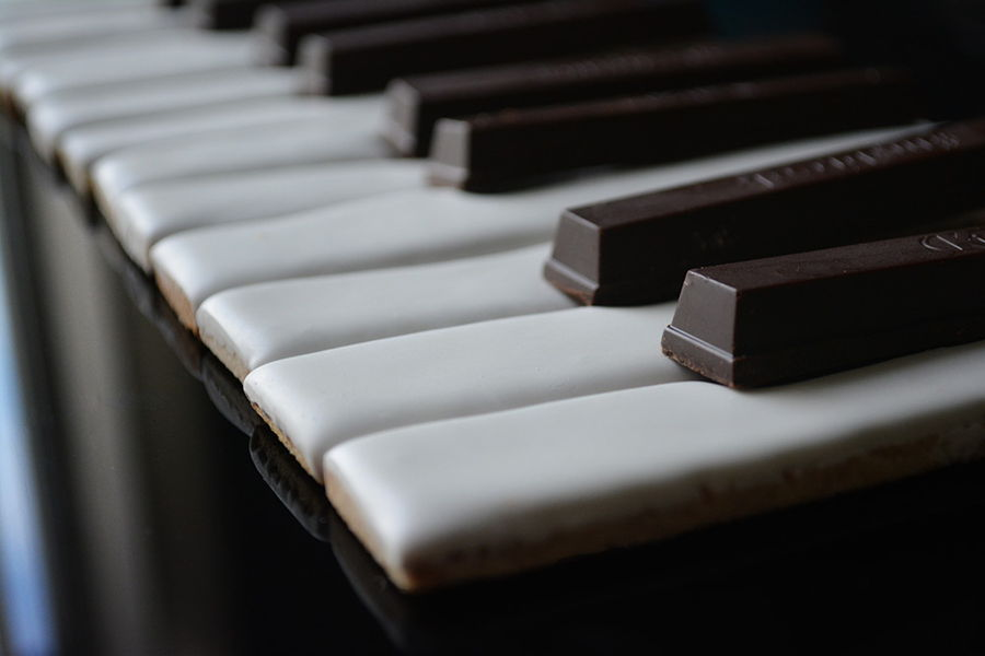 Piano Key Cookies on Cake Central