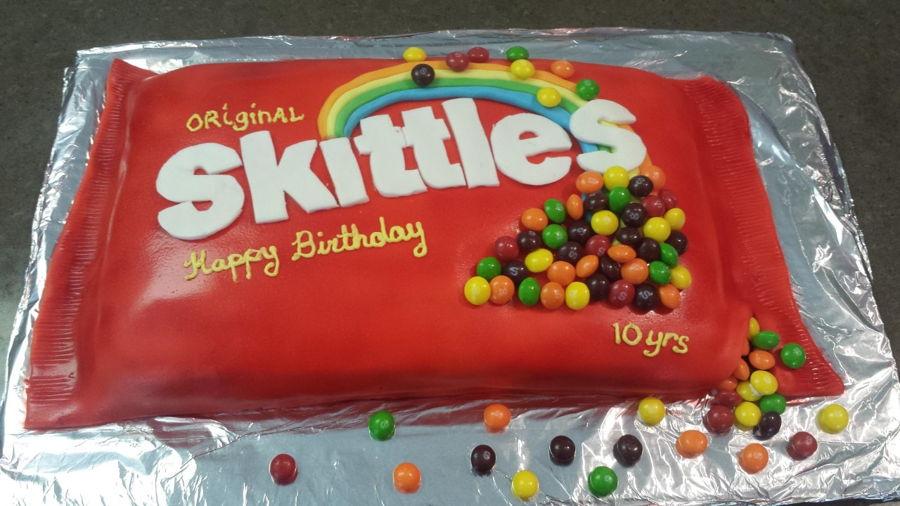 Terrific Skittles Cake Cakecentral Com Funny Birthday Cards Online Barepcheapnameinfo
