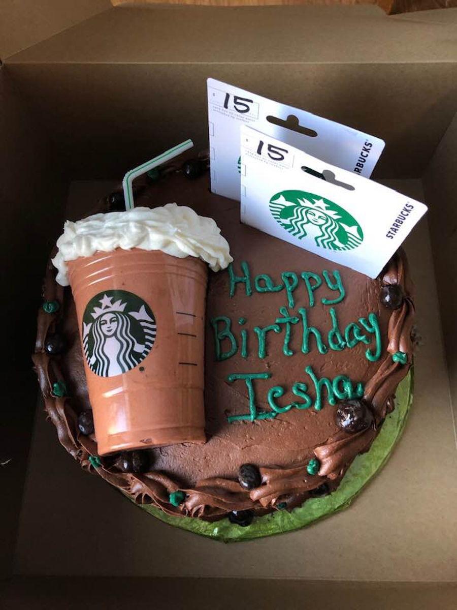 Starbucks Birthday Cake - CakeCentral.com