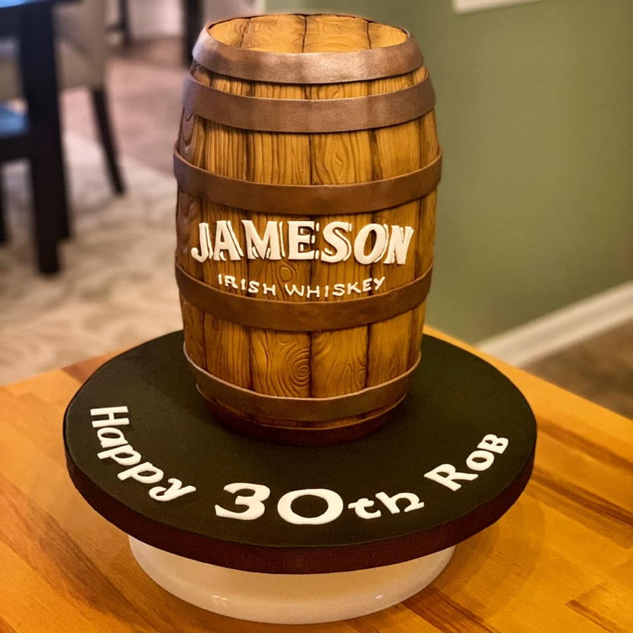 Whiskey Barrel Cake on Cake Central