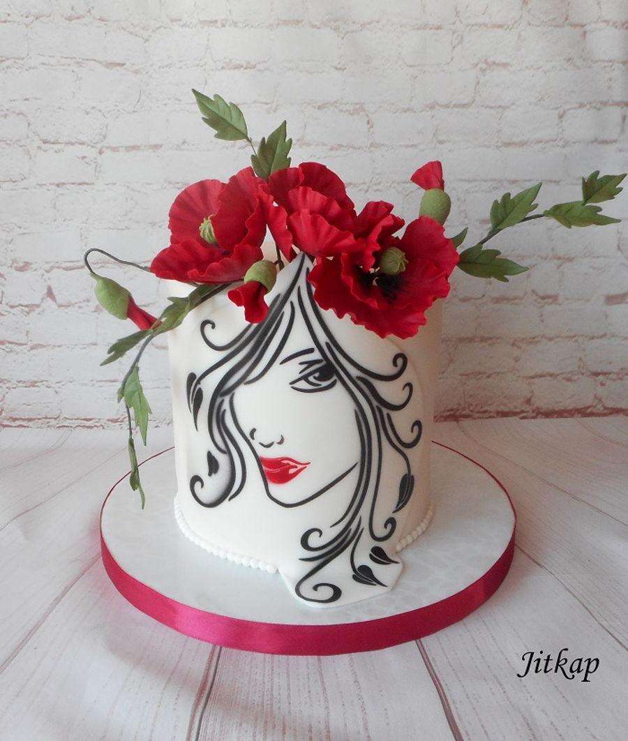 Women Silhouette Cake - CakeCentral.com