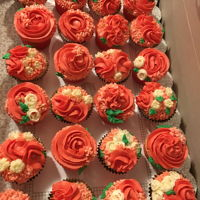 Cupcakes Made With Wilton And Russian Tips First time using Russian tips! They are tricky! I loved how these strawberry buttercream and vanilla buttercream cupcakes turned out.