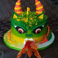 Dragon Cake Dragon cake for my nephew 7th birthday party. I got the inspiration for it on pinterest, the original was made by Casa Cordial Cakes. Each...