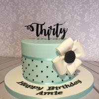 Duck Egg Blue Cake 30th Birthday