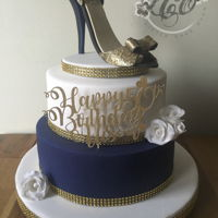 Fabulous And 50 Beautiful Glitter heel shoe on a vanilla sponge