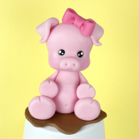 How To Make Fondant Pig Cake Topper - Tutorial Check out my YouTube channel. There's a tutorial how to make this cake topper: