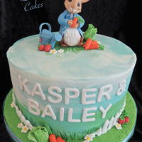 Peter Rabbit Cake Buttercream cake with handmade fondant decorations. I tried to aim for the more traditional Beatrix Potter Illustrations for Peter.. The...