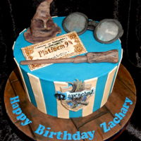 Ravenclaw Harry Potter Cake. Ravenclaw Harry Potter cake. Buttercream with fondant decorations. Tried a few new things; the hat has marshmallows inside, no rice...