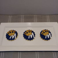 Royal Crown Birthday Cookies NFSC - with gold fondant crown.