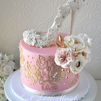 Bridal Shower High Heel Cake on Cake Central