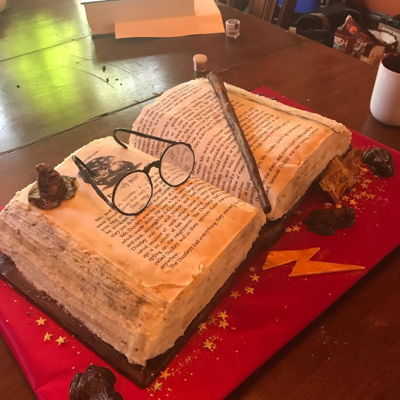 Harry Potter Cake Open Book