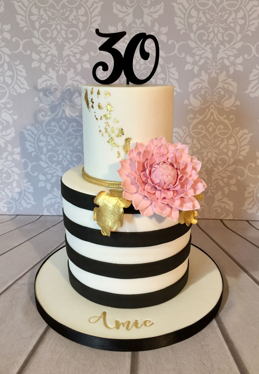 Black And White Striped Cake on Cake Central