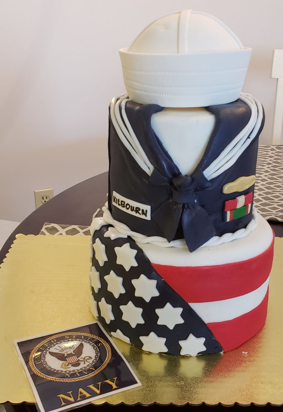 Navy Theme Cake on Cake Central