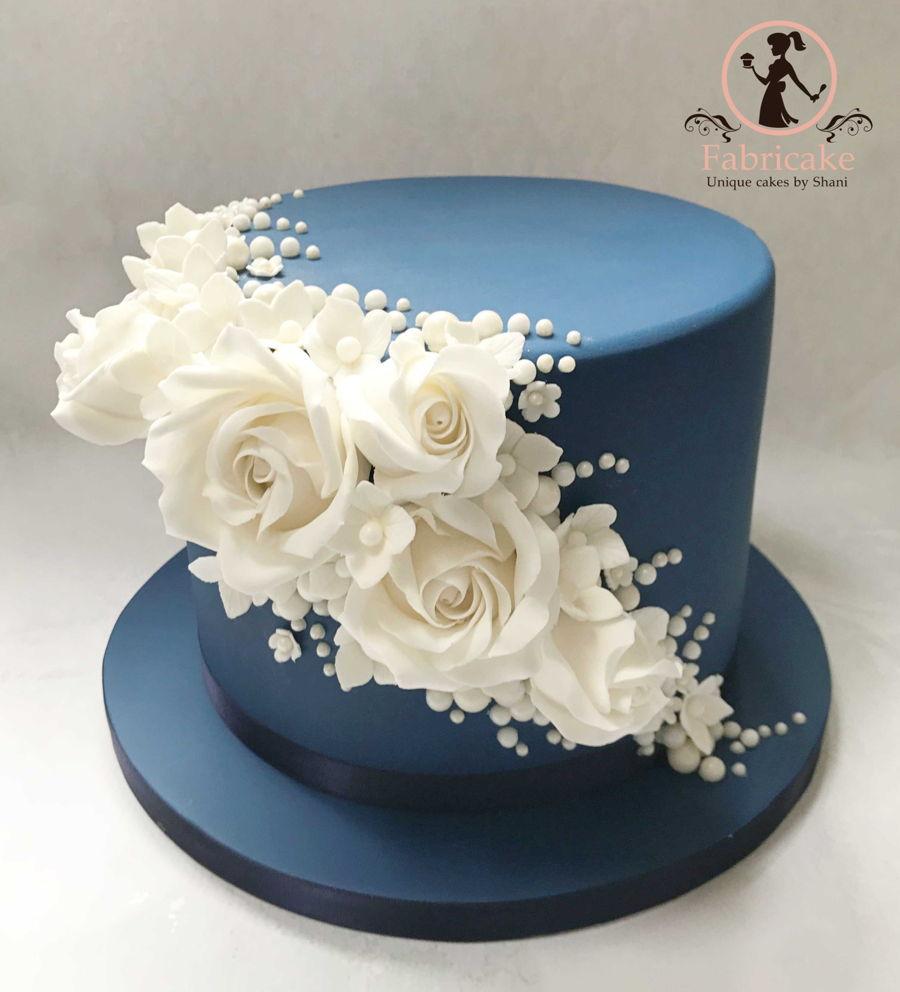 Saphire Wedding Anniversary Cake Cakecentral Com
