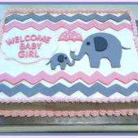 Baby Shower Cake Buttercream and fondant