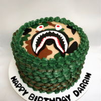 Bape Shark Birthday Cake Buttercream cake