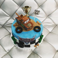 Cars Cake - Tow Mater cute cake for little boys 3rd bday