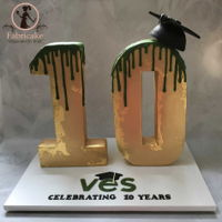 Corperation Cake This cake was made to celebrate a company's 10th anniversary