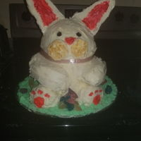 Easter Bunny Cake Easter bunny cake for dinner at a friend's house