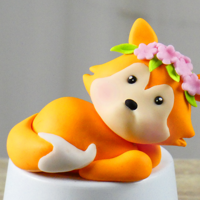 Fox Cake Topper If you want to know how to make fondant fox cake topper: