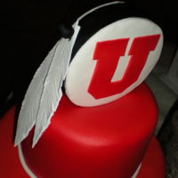 Grooms Cake - Drum And Feather Utah Utes grooms cake