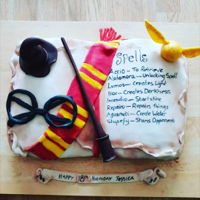 Harry Potter Cake I was asked to bake a Harry Potter cake for my friends 18th birthday..it was my first proper attempt to create something a little bit...