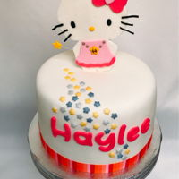 Hello Kitty Birthday Cake Fondant cake