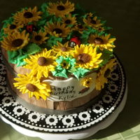 Kylie's Sunflowers My daughter wanted a sunflower cake for her 17th birthday. This is what I came up with. It's chocolate, chocolate chip cake and...
