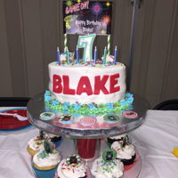 Laser Tag Cake Laser Tag Cake For Blake's 7th BdayNot too bad for a quickie overnight andLong 45 min drive