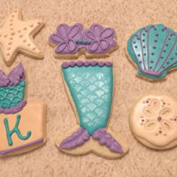 Mermaid Cookie Set Mermaid Cookie Set For Katie's Bday