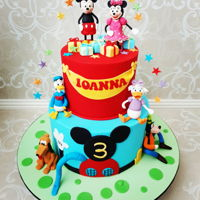 Mickeymouse Clubhouse Mickey mouse clubhouse themed Birthday cake. All figurines handcrafted with fondant.