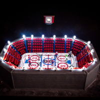 Montreal Canadiens Made for a 50th, favorite team, the Montreal Canadiens. Everything except the lights and skewers holding up the jumbotron is edible.