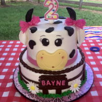 Moooo Cow Cowgirl birthday