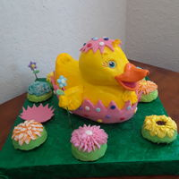 My Little Easter Ducky I used the Winton 3 d pan and some characters drawings to create this little guy.