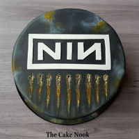 Nine Inch Nails Cake NIN cake.Cake I made for my husband's birthday last month.He's a big music lover and this year i did Nine Inch Nails themed cake....