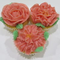 Pink Rosette Cupcakes made with 'Cake Paper Party' easy foolproof Swiss meringue buttercream recipe