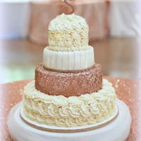 Sequins Wedding Cake Yellow cake, fondant and buttercream