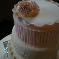 Shabby Chic embroidery, fondant and frill.