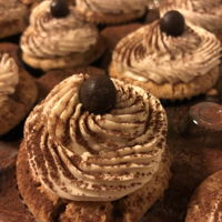 Tiramisu Cupcakes! Vanilla-espresso cupcakes soaked in an espresso syrup, with marscapone-espresso Swiss meringue buttercream, and then dusted with cocoa...