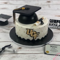 Ucf Graduation Cake Graduation was among us and here is one I did for a UCF Grad. Go Knights!