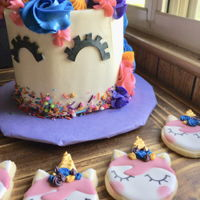 Unicorn Cake And Cookies Unicorn cake and cookies!