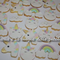 Unicorn Cookies ... rainbows, unicorns and little clouds biscuits for a sweet little girl