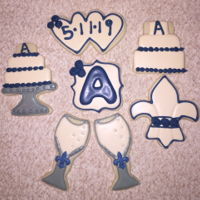 Wedding Cookie Set Blue Theme Wedding Cookie Set Blue Theme Congrats to Matt & Kristen Arcuri