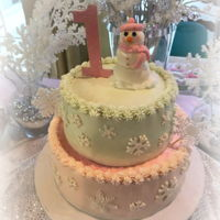Winter Birthday Cake Buttercream cake