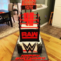 Wwe Birthday Cake Chocolate cake with vanilla buttercream