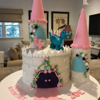 Zoes 4Th Dragon Castle Cake Princess Castle Cake with Fondant Dragon