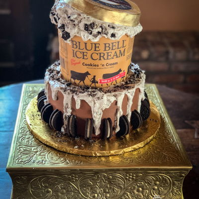 Blue Bell Ice Cream Groom's Cake