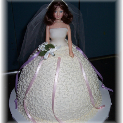 Bride Doll Cake With Charms