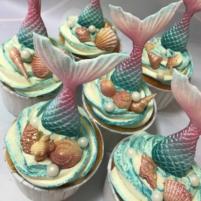 Dairy Free Mermaid Cupcakes