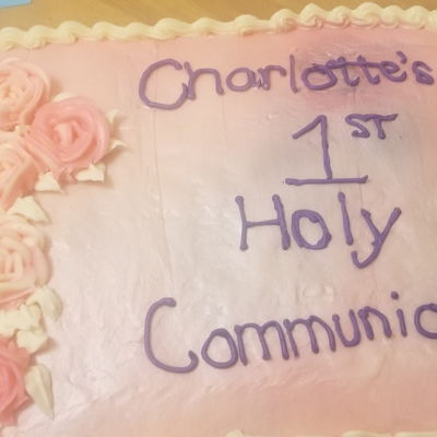 My Very First Decorating Job (For My Own Child's Communion)